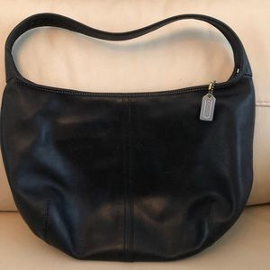 Authentic Black Leather Coach Purse
